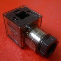 کانکتور بوبین شیر برقی هیدرولیک LED دار 3پینDC